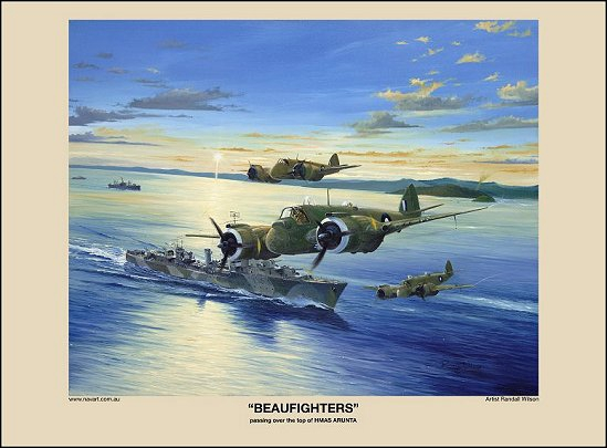 BEAUFIGHTERS HMAS ARUNTA