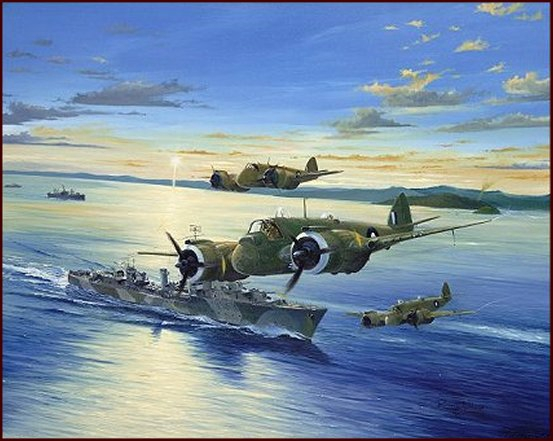 BEAUFIGHTERS and HMAS ARUNTA